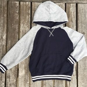 S (5-6) Gymboree Blue and Gray Cotton Hoodie